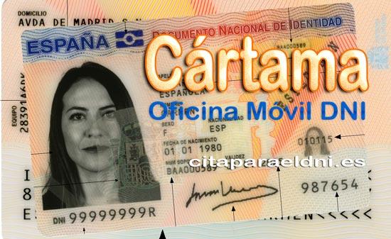Cita previa para el DNI en Cártama – Oficina del DNI y Pasaporte - Para sacar por primera vez o renovar el DNI electronico, antiguo Carnet de Identidad, y el pasaporte