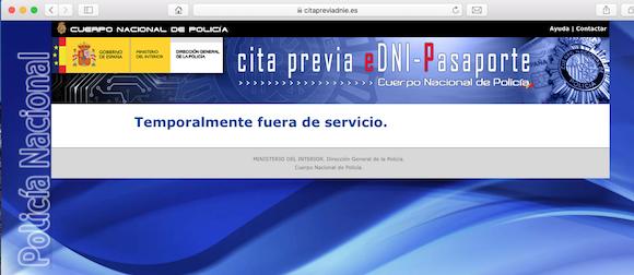 El Gobierno ha cerrado temporalmente la página para renovar el DNI y Pasaporte por el Coronavirus
