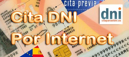 Cita para el DNI por Internet - Guía para pedir cita DNI por internet - Podemos pedir cita para obtener el DNI y pasaporte por primera vez o para renovarlo