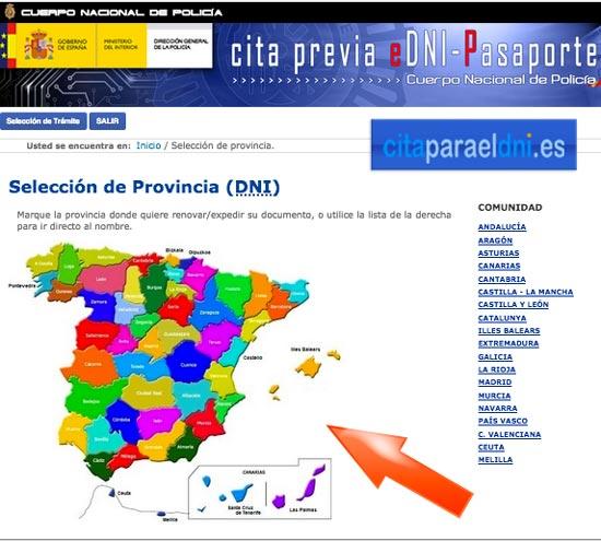 Cita DNI en España