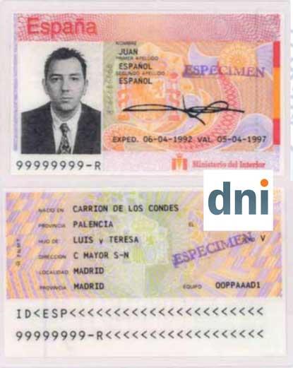 primer DNI informatizado regulado por Orden del Ministerio del Interior de fecha 12 de julio de 1990