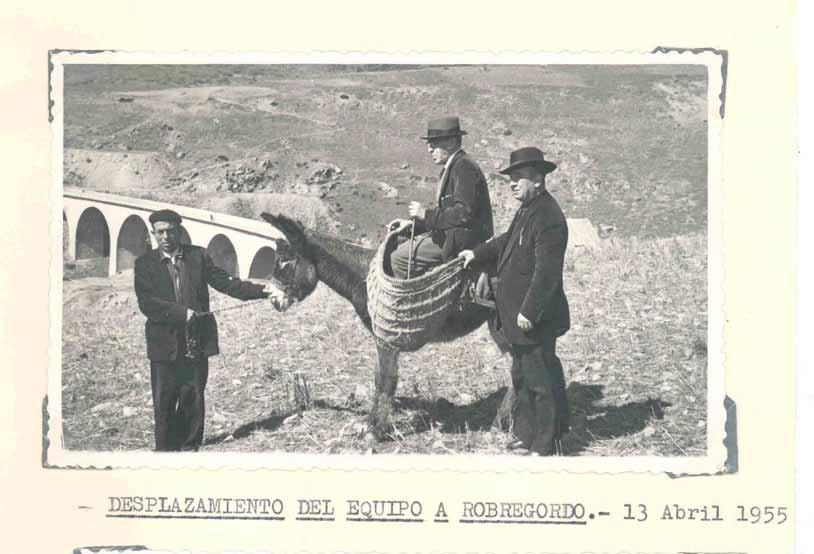 Desplazamiento del equipo a Riogordo 1955
