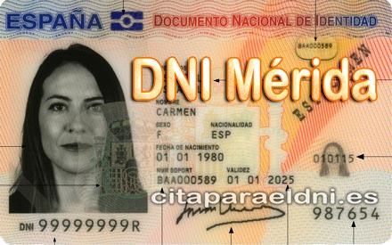 Cita previa para el DNI en Mérida – Oficina del DNI y Pasaporte - Para sacar por primera vez o renovar el DNI electronico, antiguo Carnet de Identidad, y el pasaporte