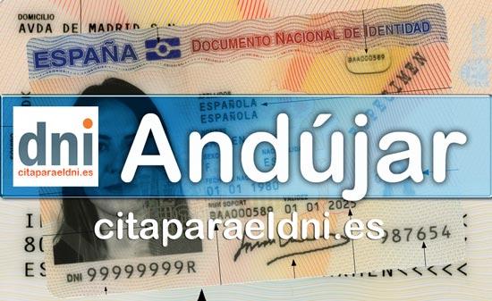 Cita previa DNI Andújar – Oficina DNI y Pasaporte - Para obtener por primera vez o renovar el DNI y el pasaporte