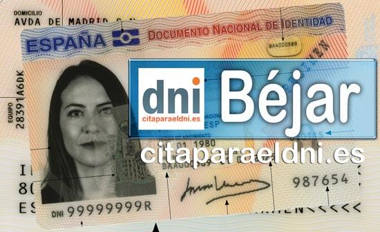 Cita previa DNI Béjar – Oficina DNI y Pasaporte - Para obtener por primera vez o renovar el DNI y el pasaporte