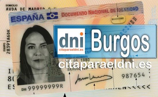 Cita previa DNI Burgos – Oficina DNI y Pasaporte - Para obtener por primera vez o renovar el DNI y el pasaporte