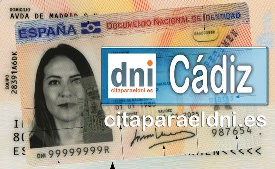 Cita previa DNI Cádiz – Oficina DNI y Pasaporte - Para obtener por primera vez o renovar el DNI y el pasaporte