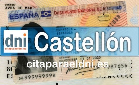 Cita previa DNI Castellón – Oficina DNI y Pasaporte - Para obtener por primera vez o renovar el DNI y el pasaporte