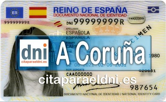 Cita previa DNI A Coruña – Oficina DNI y Pasaporte - Para obtener por primera vez o renovar el DNI y el pasaporte