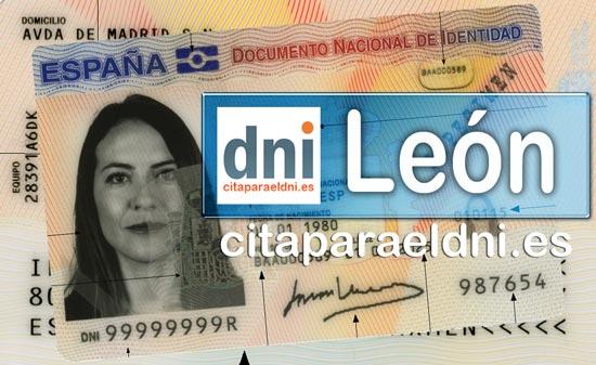 Cita previa DNI León – Oficina DNI y Pasaporte - Para obtener por primera vez o renovar el DNI y el pasaporte