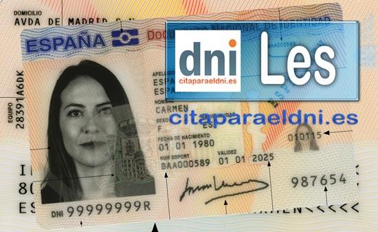 Cita previa DNI Les – Oficina DNI y Pasaporte - Para obtener por primera vez o renovar el DNI y el pasaporte
