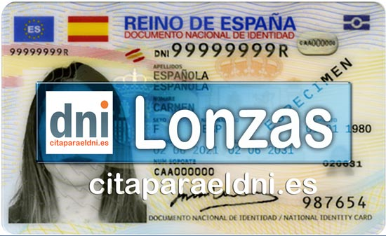 Cita previa DNI Lonzas – Oficina DNI y Pasaporte - Para obtener por primera vez o renovar el DNI y el pasaporte
