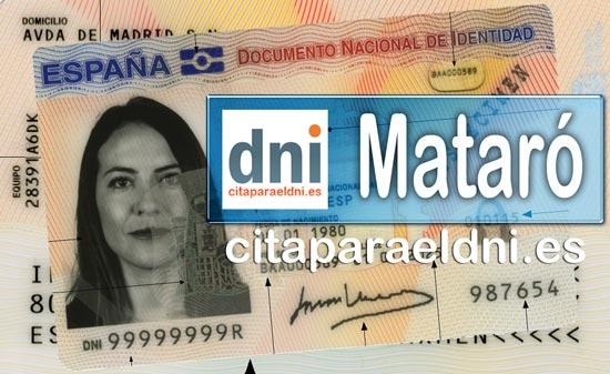 Cita previa DNI Mataró – Oficina DNI y Pasaporte - Para obtener por primera vez o renovar el DNI y el pasaporte