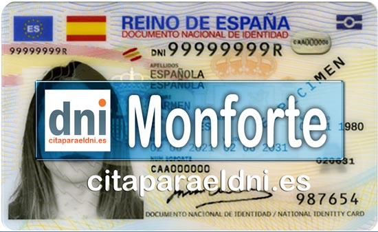 Cita previa DNI Monforte de Lemos – Oficina DNI y Pasaporte - Para obtener por primera vez o renovar el DNI y el pasaporte