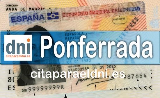 Cita previa DNI Ponferrada – Oficina DNI y Pasaporte - Para obtener por primera vez o renovar el DNI y el pasaporte