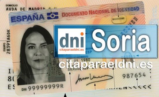 Cita previa DNI Soria – Oficina DNI y Pasaporte - Para obtener por primera vez o renovar el DNI y el pasaporte