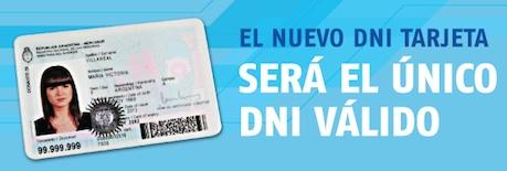 Nuevo DNI de tarjeta  en Argentina.