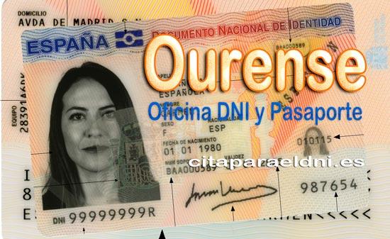 Cita previa para o DNI en Ourense - Oficina de DNI e Pasaportes - Para obter por primeira vez ou renovar o DNI electrónico, o antigo DNI e o pasaporte