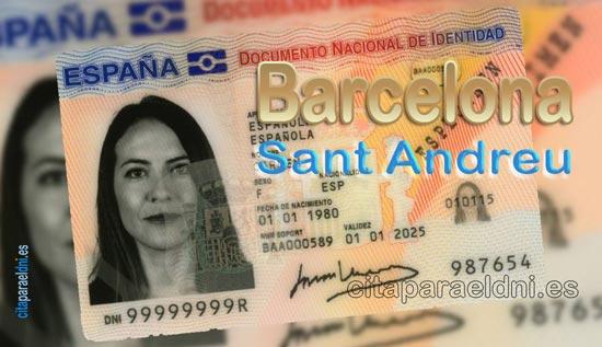 Cita previa DNI Barcelona Sant Andreu – Oficina DNI y Pasaporte - Para obtener por primera vez o renovar el DNI y el pasaporte