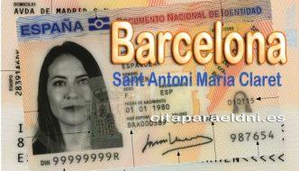 Cita previa DNI Barcelona Sant Antoni Maria Claret – Oficina DNI y Pasaporte - Para obtener por primera vez o renovar el DNI y el pasaporte