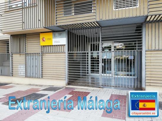 Oficina de Extranjería de Málaga en calle Mauricio Moro Pareto frente Estación de autobuses