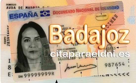 Cita previa para el DNI en Badajoz – Oficina del DNI y Pasaporte - Para sacar por primera vez o renovar el DNI electronico, antiguo Carnet de Identidad, y el pasaporte