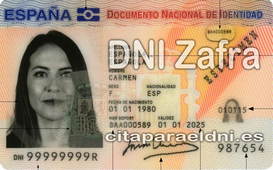 Cita previa para el DNI en Zafra – Oficina del DNI y Pasaporte - Para sacar por primera vez o renovar el DNI electronico, antiguo Carnet de Identidad, y el pasaporte