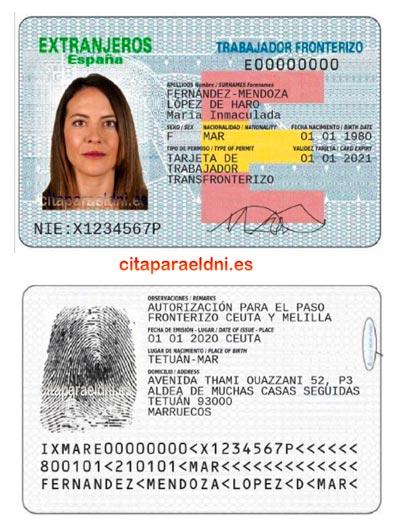 Tarjeta Permiso de trabajador fronterizo