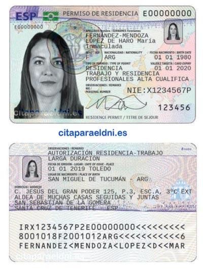 Tarjeta de Identidad de Extranjero TIE - Permiso de Residencia