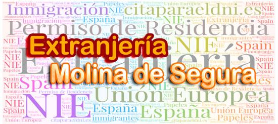 Extranjería en Molina de Segura Te informamos de los tramites que puedes realizar y la dirección, teléfono y cita previa extranjeria Molina de Segura si es necesaria