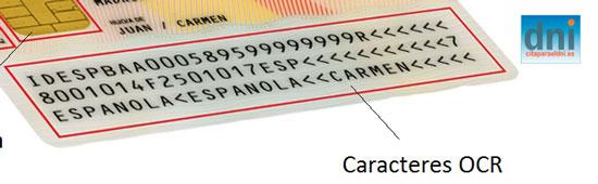 Significado de los números de la parte de atrás del DNI