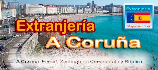 Oficinas de Extranjería de A Coruña, Ferrol, Santiago de Compostela y Ribeira. Te informamos de los tramites que puedes realizar y la dirección, teléfono y cita previa. Tienes también una lista de tramitespara inmigrantes y extranjeros en cada oficina.