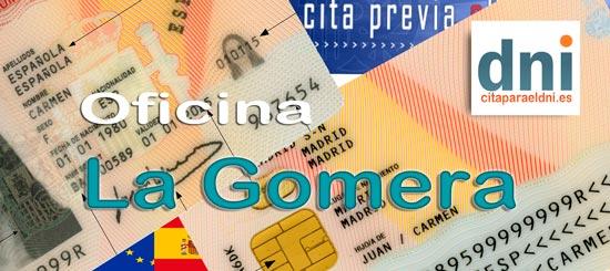 Cita previa para el DNI en San Sebastián de La Gomera – Oficina del DNI y Pasaporte - Para sacar por primera vez o renovar el DNI electronico, antiguo Carnet de Identidad, y el pasaporte
