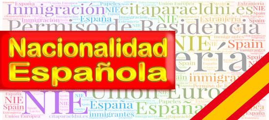 Nacionalidad Española - Información para adquirir la nacionalidad española por residencia, matrimonio y nacimiento. Tramites y cita previa