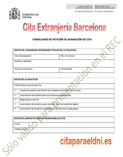 Cita Extranjería Barcelona