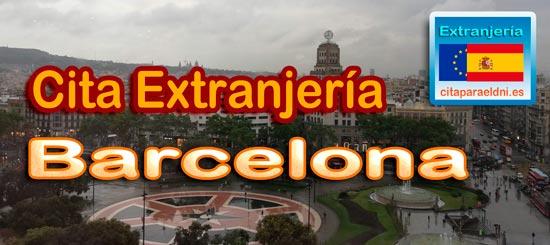 Cita para Extranjería, NIE y Huellas en Barcelona