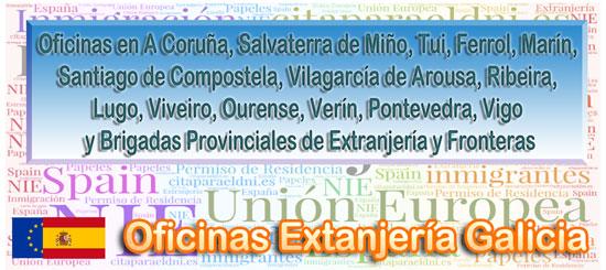 Oficinas de inmigración, NIE y Extranjería en Galicia Te informamos de los tramites que puedes realizar y la dirección, teléfono y cita previa extranjeria si es necesaria