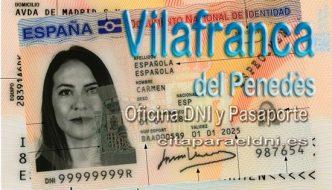Cita previa DNI Vilafranca del penedès – Oficina DNI y Pasaporte - Para obtener por primera vez o renovar el DNI y el pasaporte